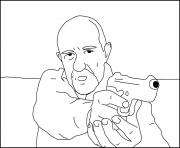 Coloriage Mike Ehrmantraut breaking bad