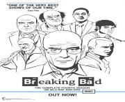 Coloriage breaking bad poster
