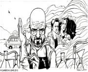 Coloriage adult breaking bad dessin