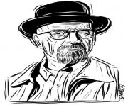 walter white breaking bad dessin à colorier