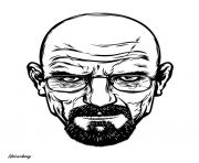 white breaking bad head dessin à colorier