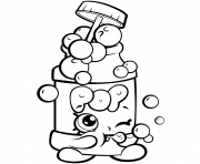 Coloriage saison 7 Funny Shopkins Pops Bubble Blower