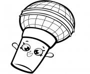 saison 7 Microphone saison sept Shopkins 2017 dessin à colorier