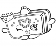 saison 7 Shopkins Princess Purse dessin à colorier