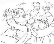 aquaman elimine son ennemi dessin à colorier