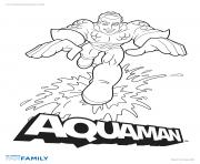 Coloriage aquaman hero dc comics
