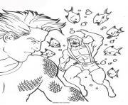 aquaman prend sa revenche dessin à colorier