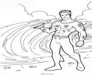 aquaman profite de la plage dessin à colorier
