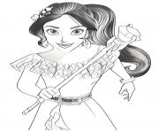 Coloriage elena davalor disney