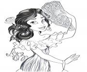 Coloriage elena avalor princesse disney bal