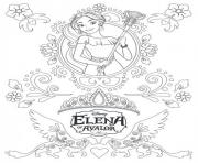 Coloriage zentangle mandala elena avalor disney