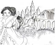 Coloriage chateau royaume de elena avalor