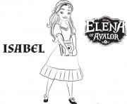 Coloriage isabel de elena avalor disney princesses