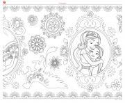 mandala zentagle adulte disney elena avalor dessin à colorier