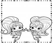 Coloriage shimmer et shine Cute Genies