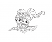 Coloriage Shimmer Shine Printable