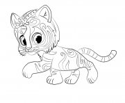 Tiger Nahal from shimmer et shine dessin à colorier
