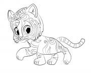 shimmer et shine Nahal dessin à colorier