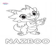 shimmer et shine Nazboo dessin à colorier