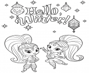 Coloriage shimmer et shine Tiger and Monkey dessin