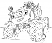 Coloriage blaze monster truck