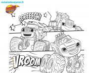 123coloriage blaze monsters machines dessin à colorier