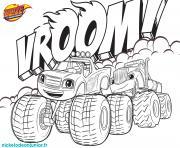 Coloriage Blaze Et Les Monsters Machines à Imprimer Dessin
