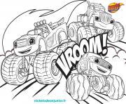blaze et les monsters machines vroom vroom dessin à colorier