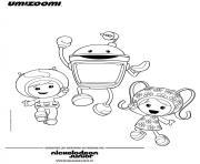 les umizoomi sont heureux dessin à colorier