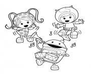 umizoomi danse sur la musique dessin à colorier