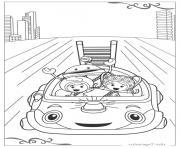 Umizoomi course rapide avec la voiture dessin à colorier