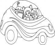 umizoomi en voiture dessin à colorier