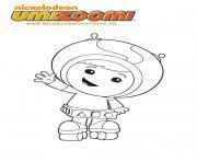 umizoomi te fait un salut dessin à colorier