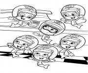 Coloriage Bubble Guppies Sport Team 6