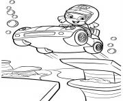 Coloriage Bubble Guppies Car Jump 7