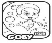 Goby Bubble Guppies dessin à colorier