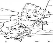 Coloriage Bubble Guppies Coloring Page Deema and Molly