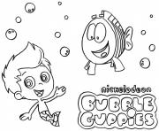 Coloriage Bubble Guppies Printable 5