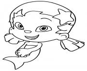 Coloriage Bubble Guppies Dona Smile dessin