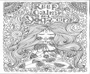 Coloriage adulte keep calm and do yoga par deborah muller