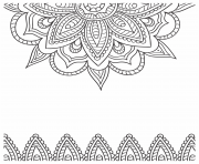 Coloriage mandala mer dessin