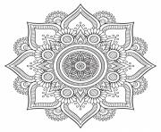 Coloriage mandala floral background design hd