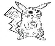 Coloriage Adulte Pokemon Pikachu dessin