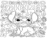 Coloriage mandala disney facile Stitch from Lilo and Stitch
