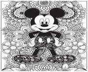 mandala disney mickeymouse hd dessin à colorier