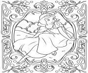 mandala disney princesse blanche neige dessin à colorier