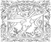 mandala disney tinker bell dessin à colorier