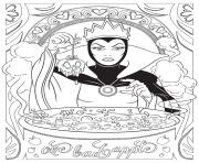 Coloriage mandala disney Evil Queen from Snow White and the Seven Dwarfs