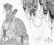 mandala disney princesse cendrillon  dessin à colorier