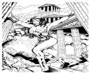 Coloriage kevin sharpe wonder woman inks by frisbeegod